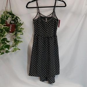 NWT Black with white polka dot dress